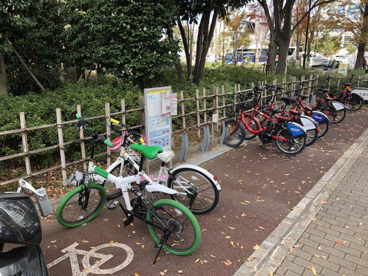 晴海・黎明橋公園の自転車置場