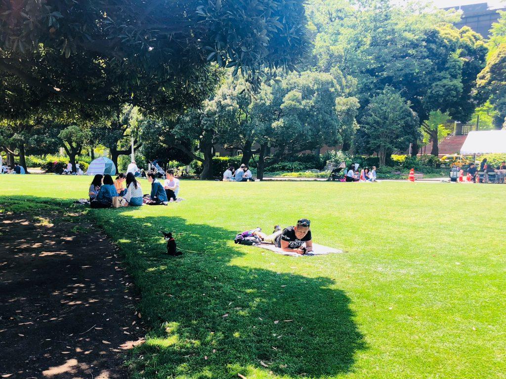 山下公園でピクニック