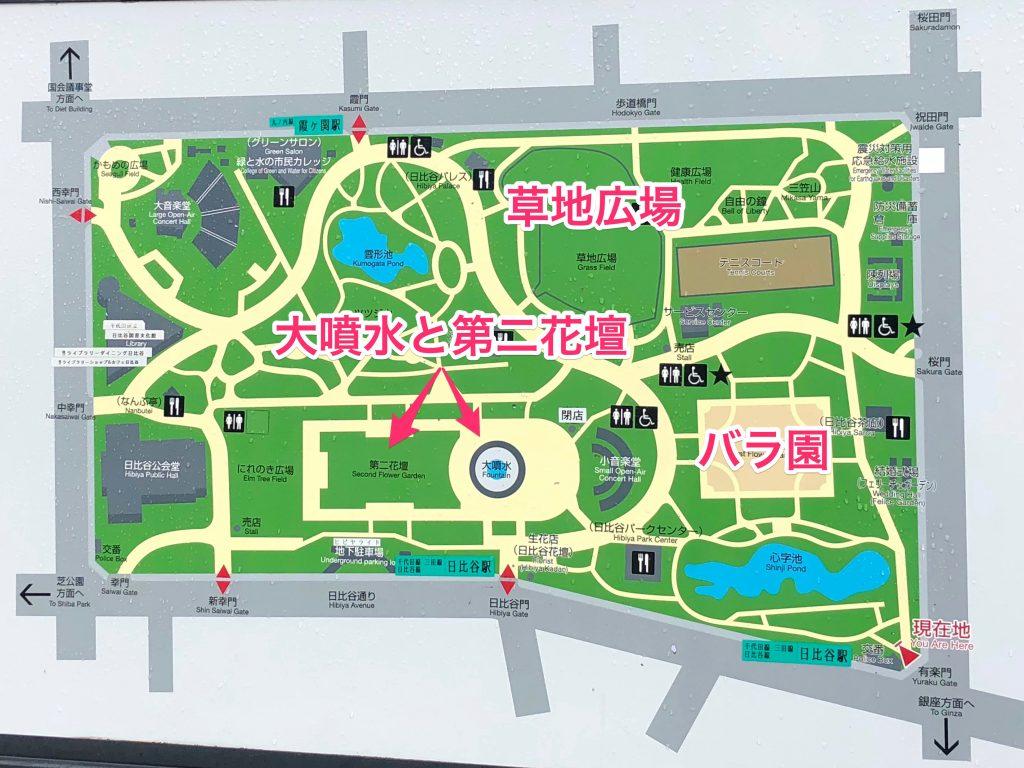 日比谷公園案内図