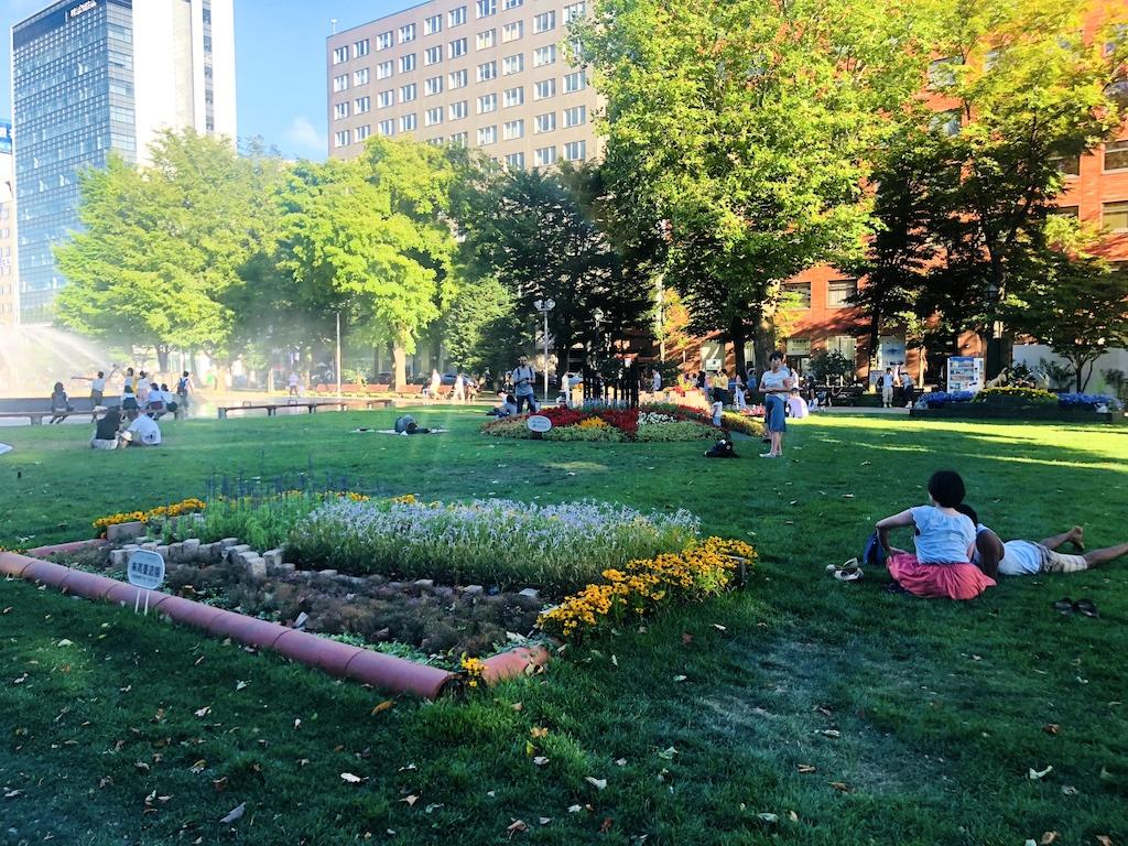 札幌大通公園の芝生広場